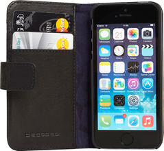 Decoded Leather Book Apple iPhone 5/5S/SE Zwart