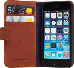 Decoded Leather Book Apple iPhone 5/5S/SE Bruin