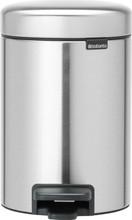 Brabantia NewIcon Pedaalemmer 3 Liter Mat Staal