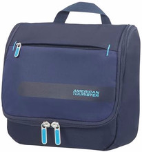 American Tourister Herolite Hanging Toilet Kit Midnight Blue