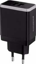 Mobiparts Thuislader Dual USB 4.8A Zwart