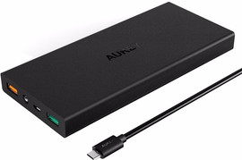 Aukey PB-T9 Quick Charge Powerbank 16.000 mAh Zwart