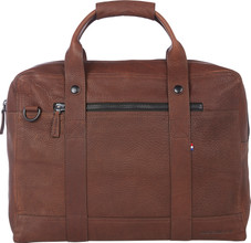 "Decoded Leather Messengerbag 15"" Brown"