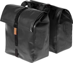 Basil Urban Dry Dubbel Bag 50L Zwart