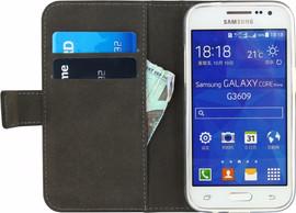 Mobilize Gelly Wallet Book Case Galaxy Core Prime Zwart