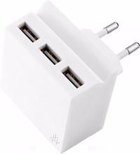 USBEPOWER Thuislader 3 USB poorten 3,4 A Wit