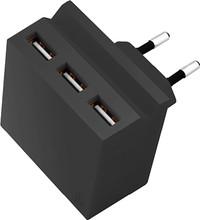 USBEPOWER Thuislader 3 USB poorten 3,4 A Zwart