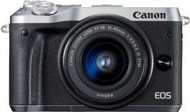 Canon EOS M6 Body Zilver + EF-M 15-45mm f/3.5-6.3 IS STM