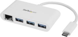 StarTech 3 poorts USB 3.0 Hub met GbE - USB-C naar 3x USB-A