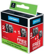 DYMO D1 Bundel Zwart-Wit (12 mm x 7 m) (2+1 Gratis)