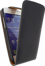 Xccess Leather Flip Case Samsung Galaxy Core Prime Zwart