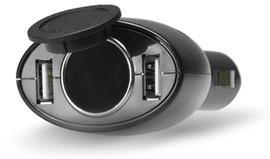 HQ Autolader Dual USB + Car Socket