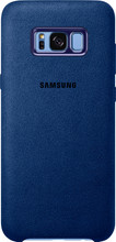 Samsung Galaxy S8 Plus Alcantara Back Cover Blauw