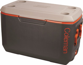 Coleman 70QT Xtreme Cooler Tricolor Charcoal/Orange