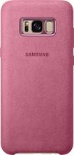 Samsung Galaxy S8 Plus Alcantara Back Cover Roze