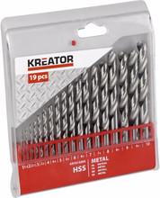 Kreator Metaalborenset HSS 19-delig 1-10mm