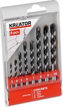 Kreator Betonborenset 8-delig 3-10mm