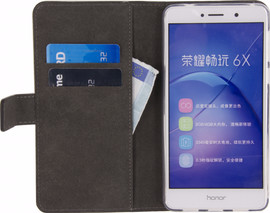Mobilize Classic Gelly Wallet Honor 6X Book Case Zwart