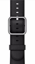 Apple Watch 38mm Klassiek Lederen Polsband Zwart