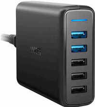 Anker PowerPort Speed 3 USB Poorten + 2 USB Quick Charge Zwa