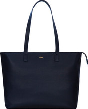 "Knomo Maddox Zip Top Tote 15"" Navy"