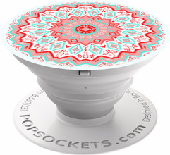 PopSockets Expanding Stand/Grip Aztec Mandala Red