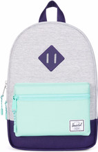 Herschel Heritage Kids Light Grey Cross/Lucite Green