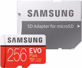 Samsung MicroSDXC EVO+ 256GB 100MB/s CL10 + SD Adapter
