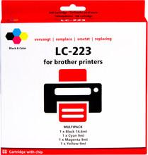 Pixeljet Brother LC-223 4-Kleuren Pack