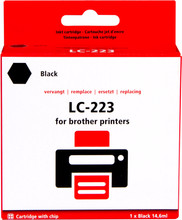 Huismerk Brother LC-223BK Cartridge Zwart