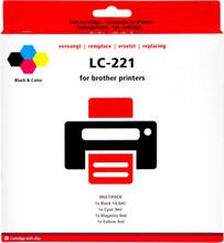 Pixeljet Brother LC-221 4-Kleuren Pack