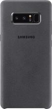 Samsung Galaxy Note 8 Alcantara Back Cover Grijs