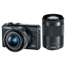 Canon EOS M100 + 15-45mm + 55-200mm Zwart