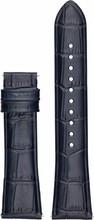 Emporio Armani 22mm Lederen Horlogeband Blauw