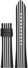 Emporio Armani 22mm Nylon Horlogeband Zwart/Wit