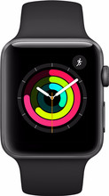 Apple Watch Series 3 42mm Space Grey Aluminium/Zwarte Sportb