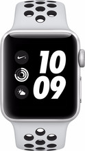 Apple Watch Series 3 Nike+ 38mm Zilver Aluminium/Zwart Sport