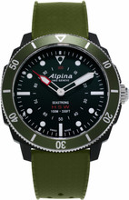 Alpina Seastrong Horological Zwart/Groen