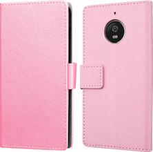 Just in Case Wallet Moto E4 Book Case Roze