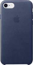 Apple iPhone 7/8 Leather Back Cover Blauw