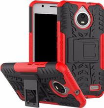 Just in Case Rugged Hybrid Moto E4 Back Cover Rood