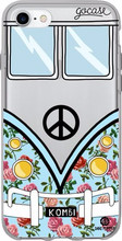 GoCase TPU iPhone 7/8 Back Cover Blue Kombi