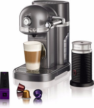 KitchenAid Nespresso en Aeroccino Tingrijs