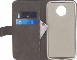 Mobilize Classic Gelly Wallet Moto G5S Book Case Zwart