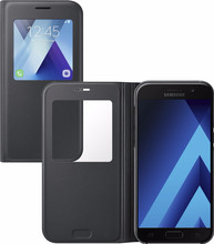 Samsung Galaxy A5 (2017) S View Stand Cover Zwart