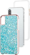 Case-Mate Karat iPhone X Back Cover Blauw