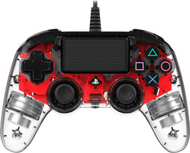 Nacon PS4 Official Wired  Illuminated Controller Rood