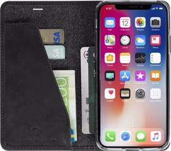 Krusell Sunne 4 Card iPhone X Book Case Zwart