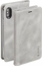 Krusell Sunne 4 Card iPhone X Book Case Grijs