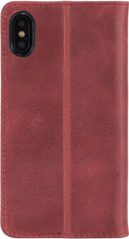 Krusell Sunne 4 Card iPhone X Book Case Rood